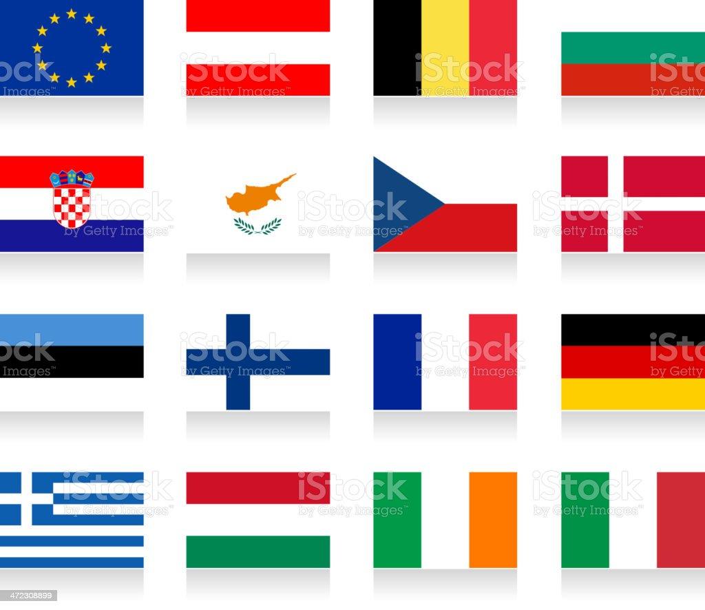 European union flag collection royalty-free stock vector art