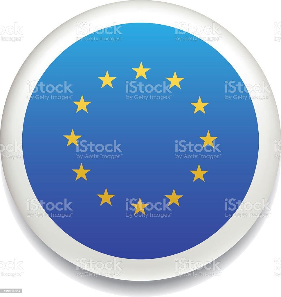 European Union flag vector button royalty-free stock vector art