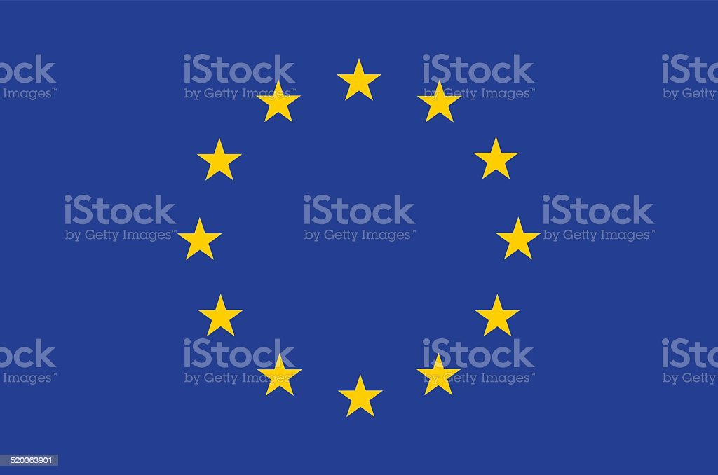 European union flag vector art illustration