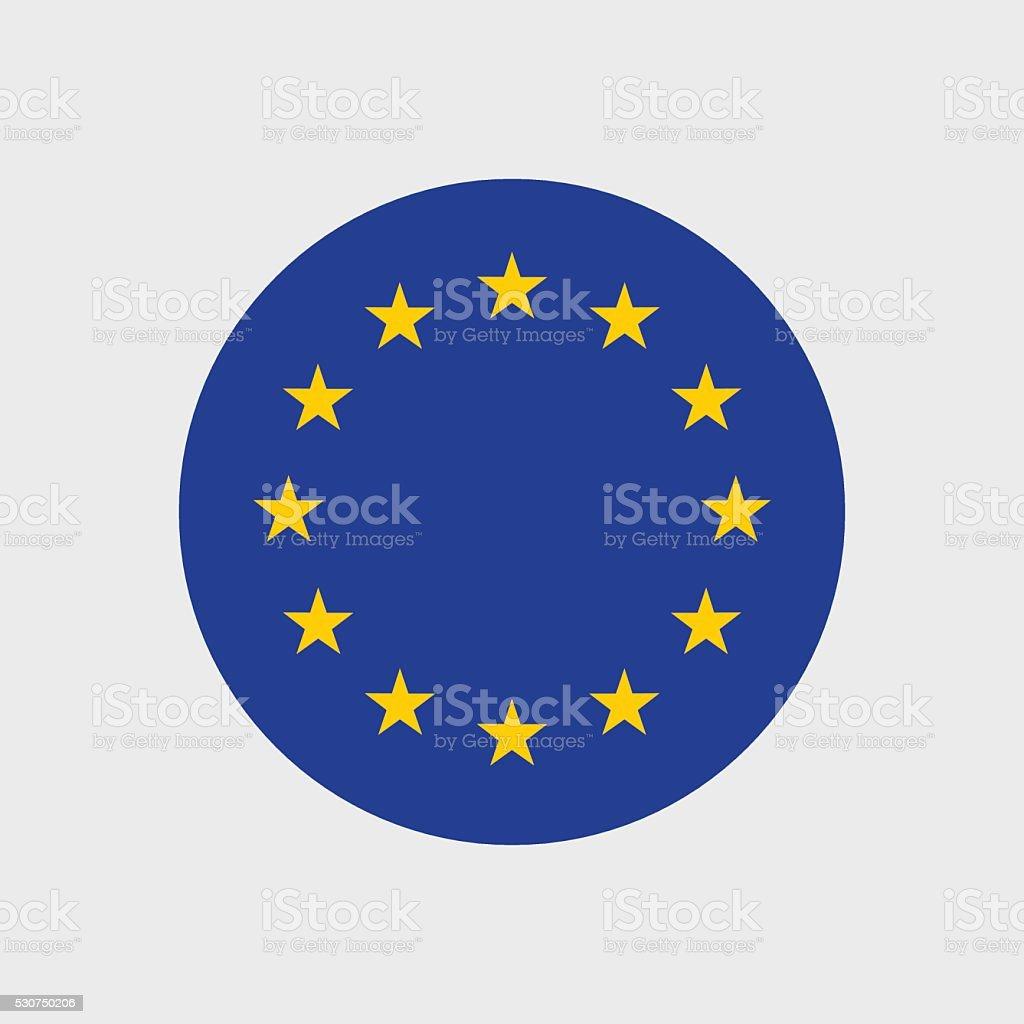 European Union flag vector art illustration