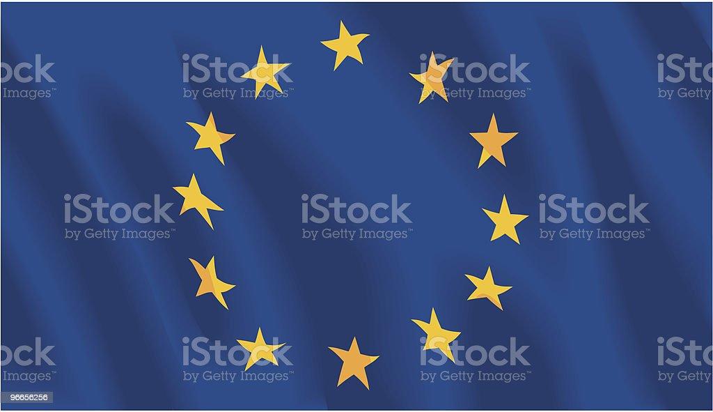 European Union Flag royalty-free stock vector art