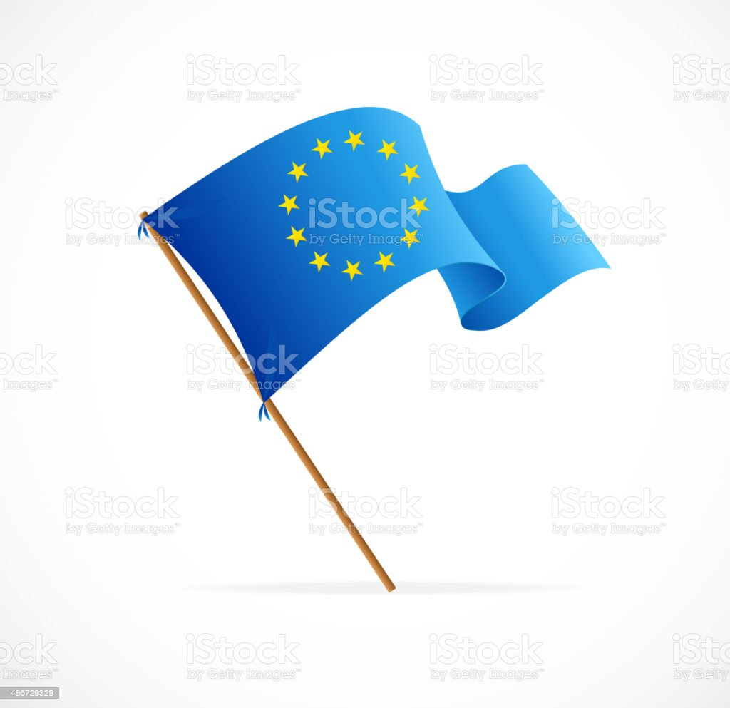 European union flag vector vector art illustration