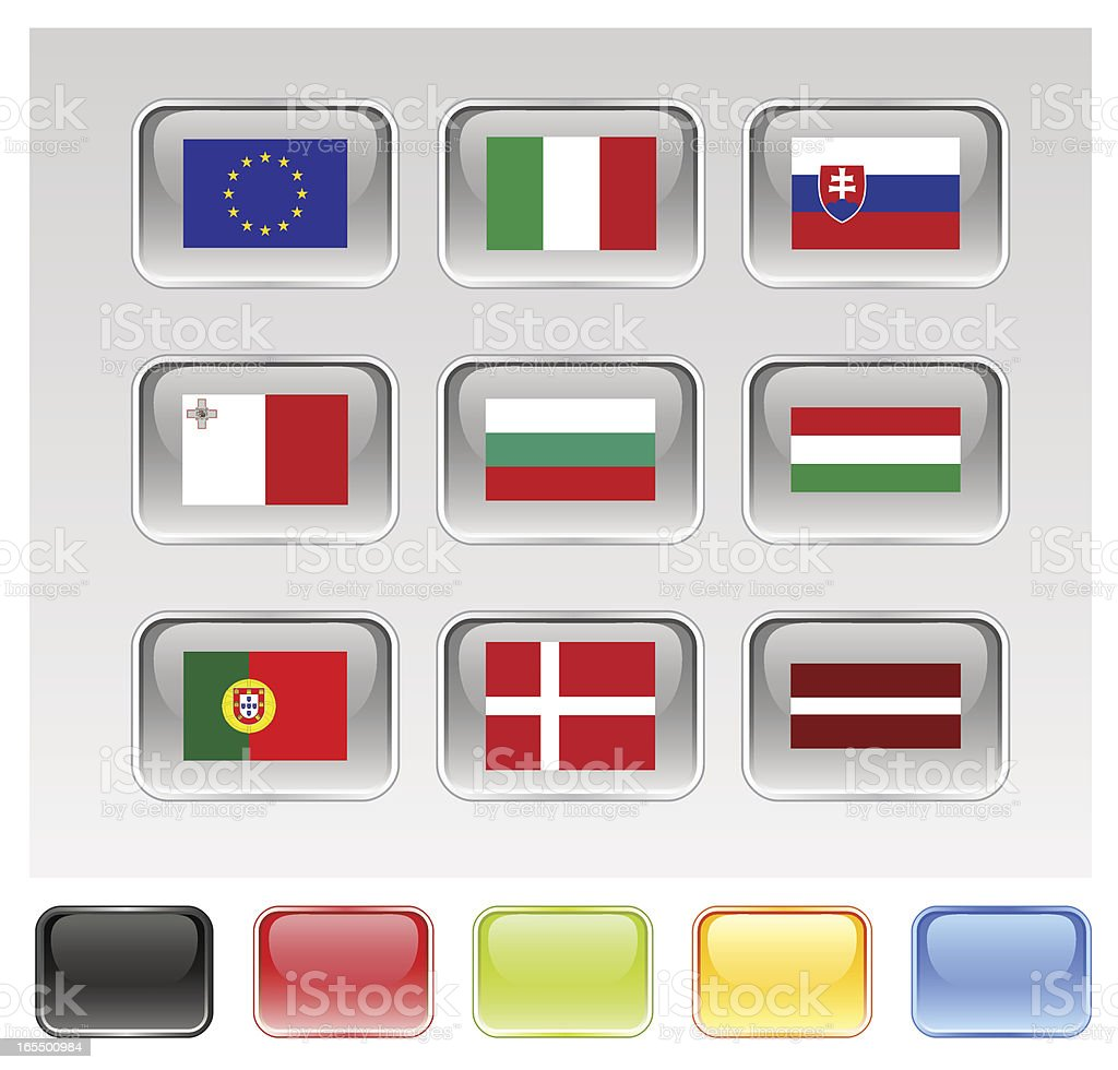 European Union Flags Series 2/3 (see Description) royalty-free stock vector art