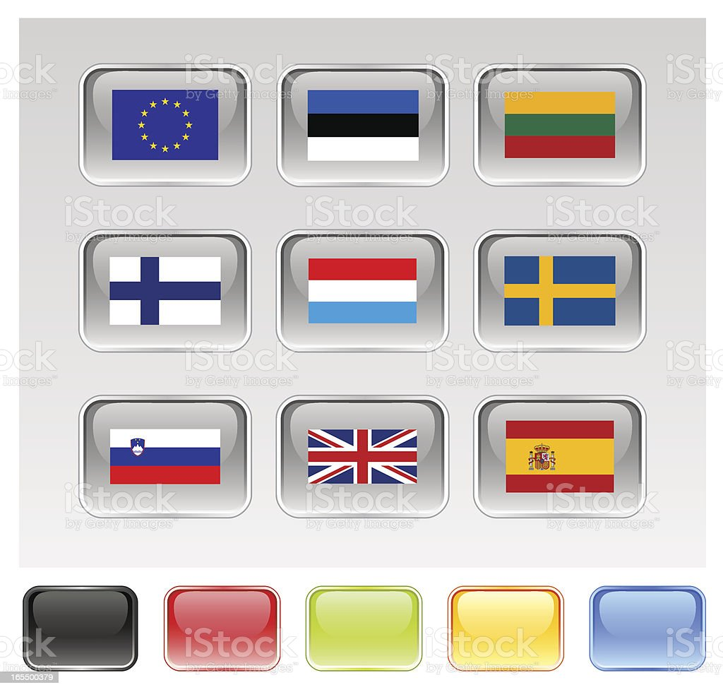European Union Flags Series 3/3 royalty-free stock vector art