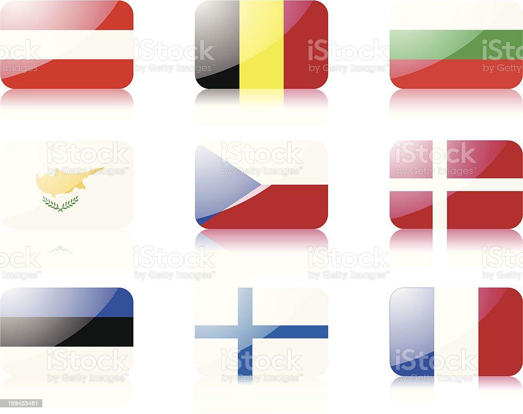 European union flags set 1 royalty-free stock vector art