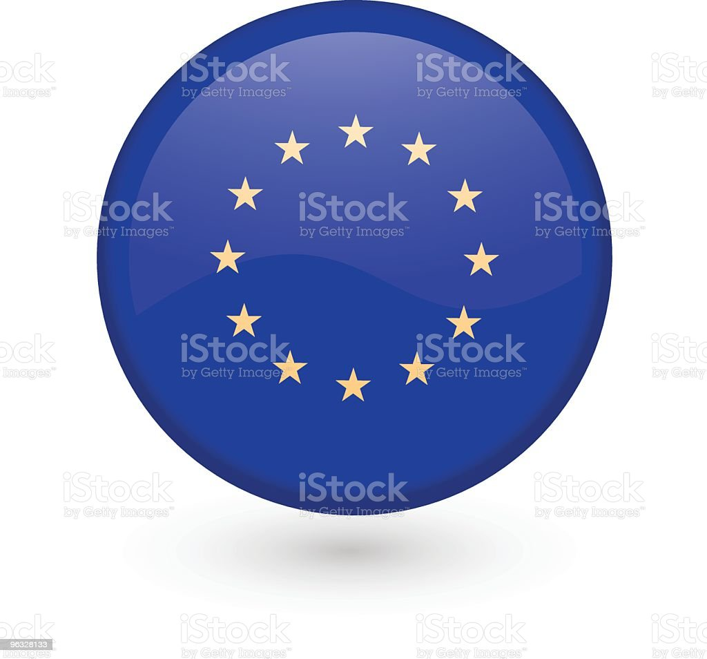 European Union vector button royalty-free stock vector art