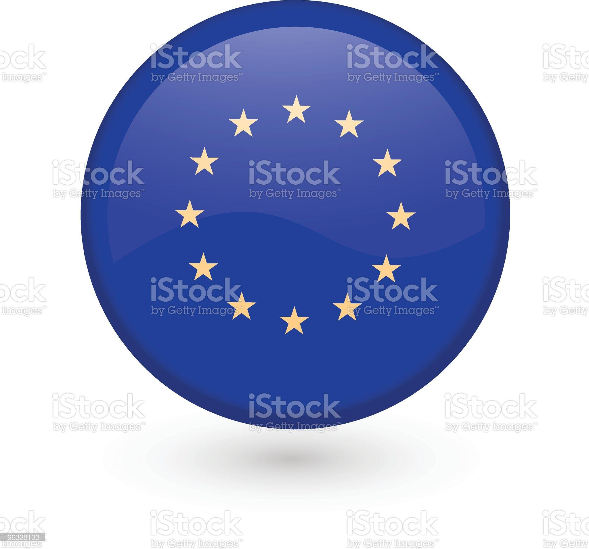 European Union vector button royalty-free stock vector art