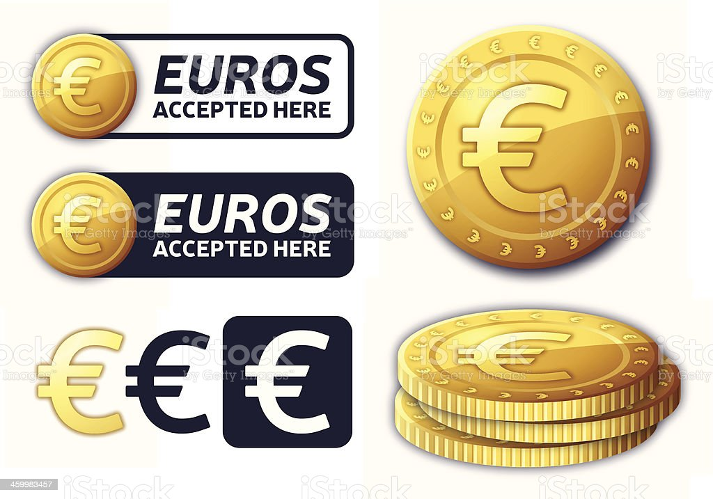 Euros Currency Elements royalty-free stock vector art