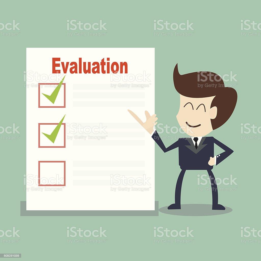 Evaluation vector art illustration