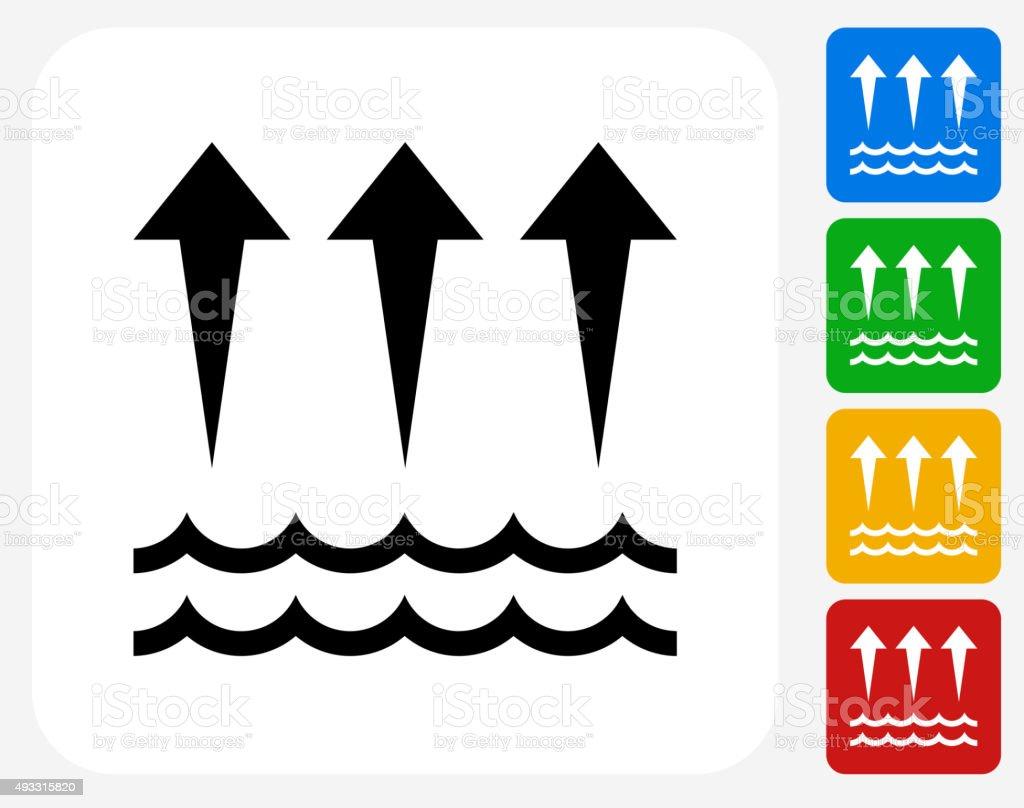 Evaporation  Icon Flat Graphic Design vector art illustration