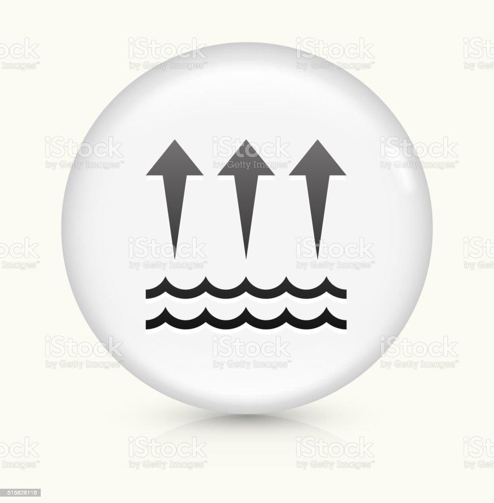 Evaporation  icon on white round vector button vector art illustration