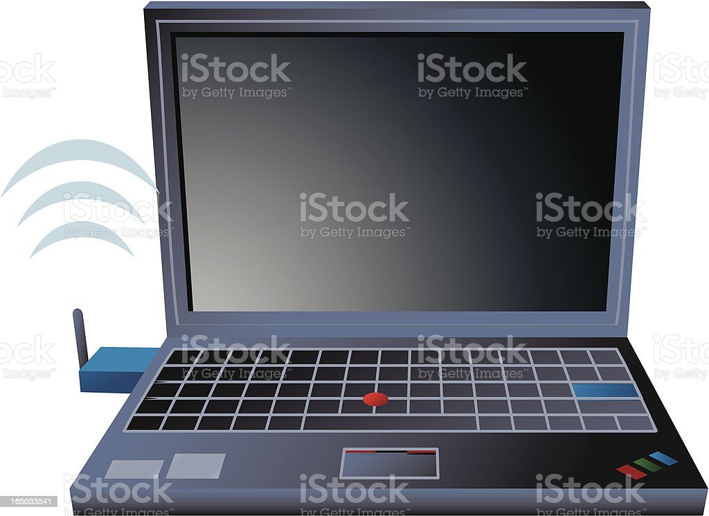 EvDo Laptop royalty-free stock vector art