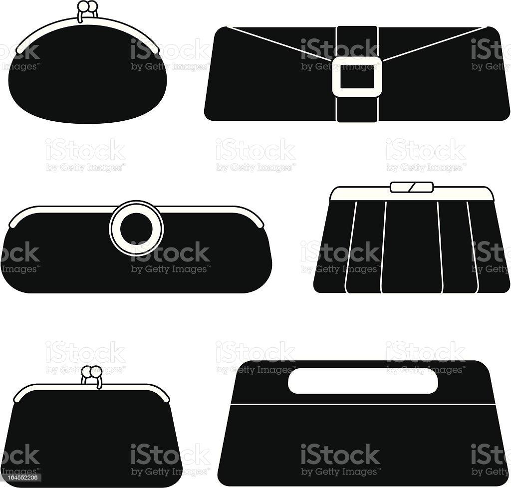 Evening Bags vector art illustration
