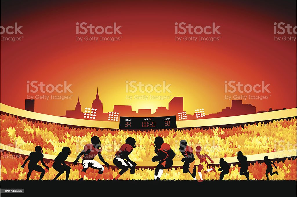 Evening football game royalty-free stock vector art