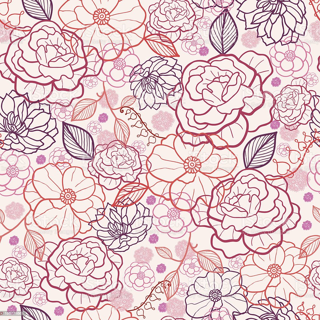 Evening Garden Floral Seamless Pattern royalty-free stock vector art