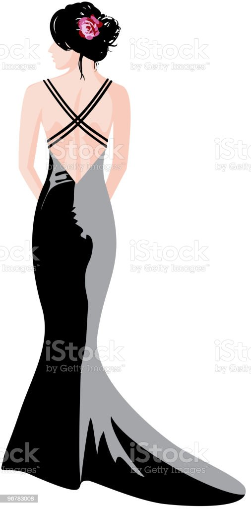 Evening gown royalty-free stock vector art