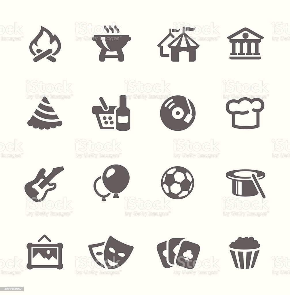 Event icons. vector art illustration