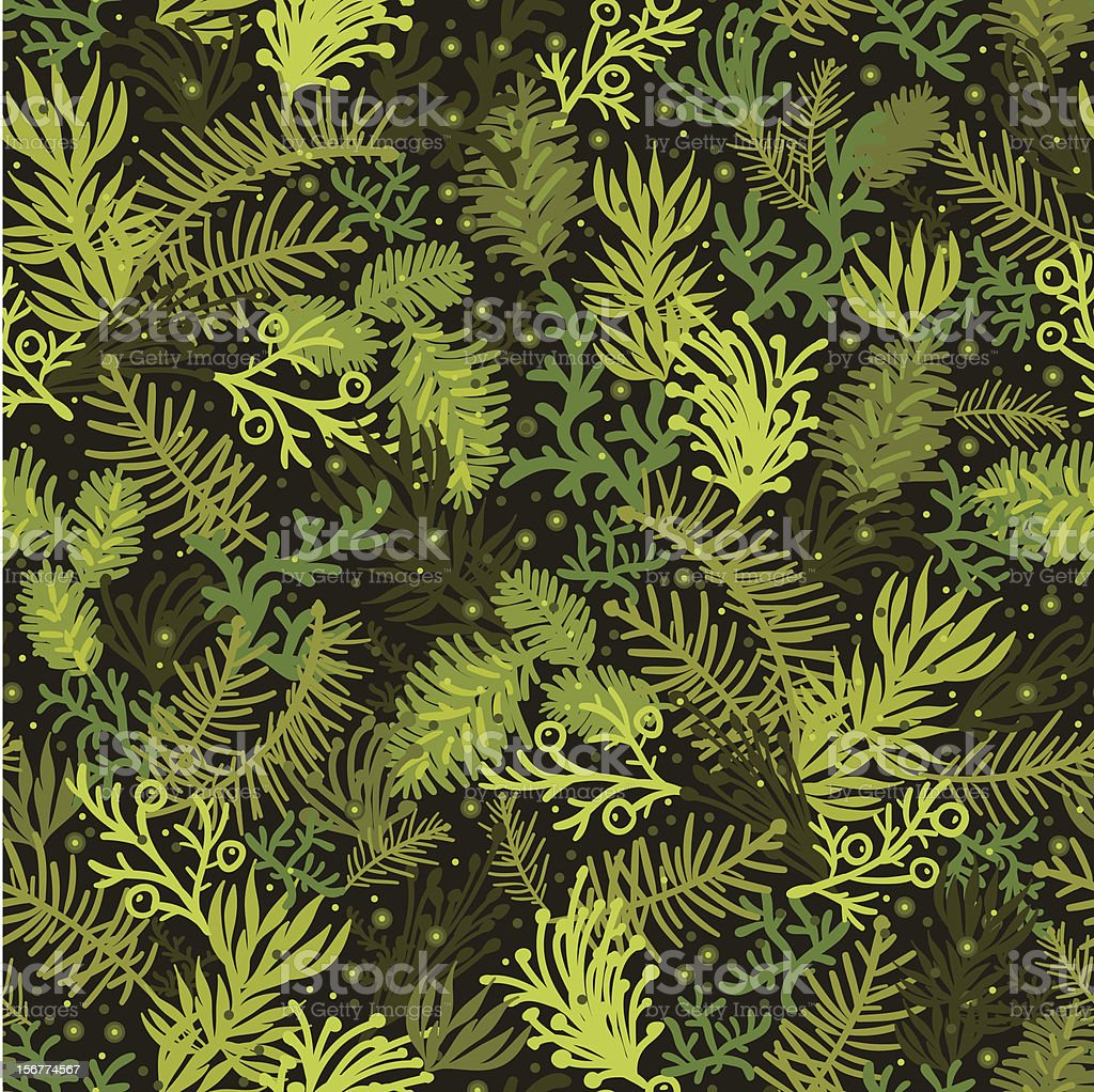 Evergreens Seamless Pattern Background royalty-free stock vector art