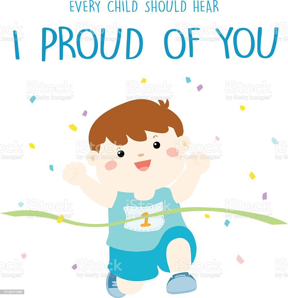 every child should hear I pround of you vector vector art illustration