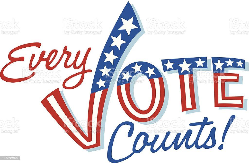 Every Vote Heading C vector art illustration