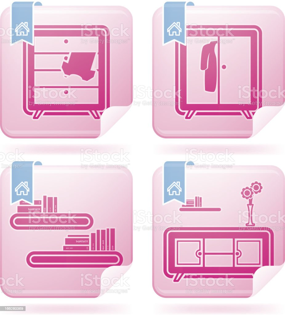 Everyday home objects royalty-free stock vector art