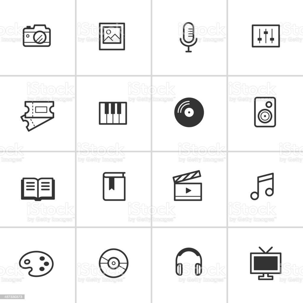 Everyday Media Icons — Inky Series stock photo