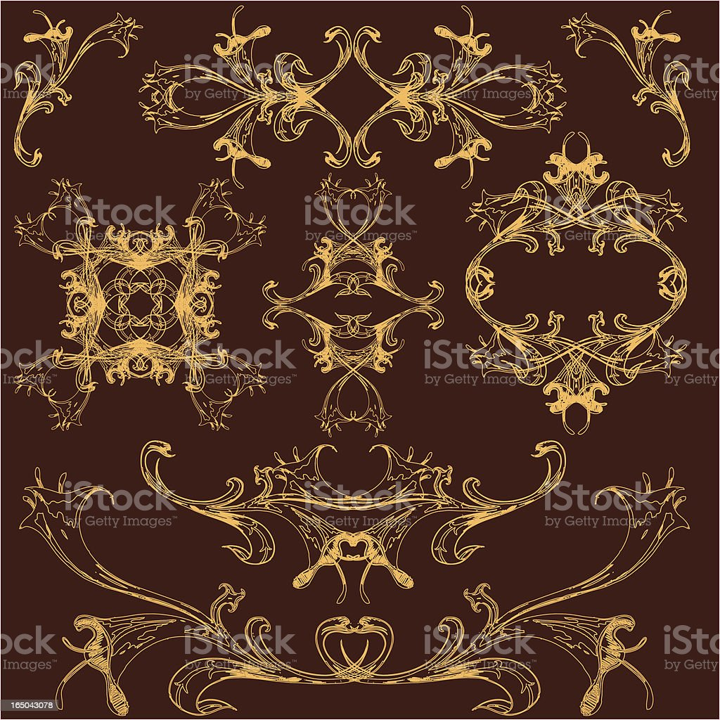 evil and beautiful graphic elements royalty-free stock vector art