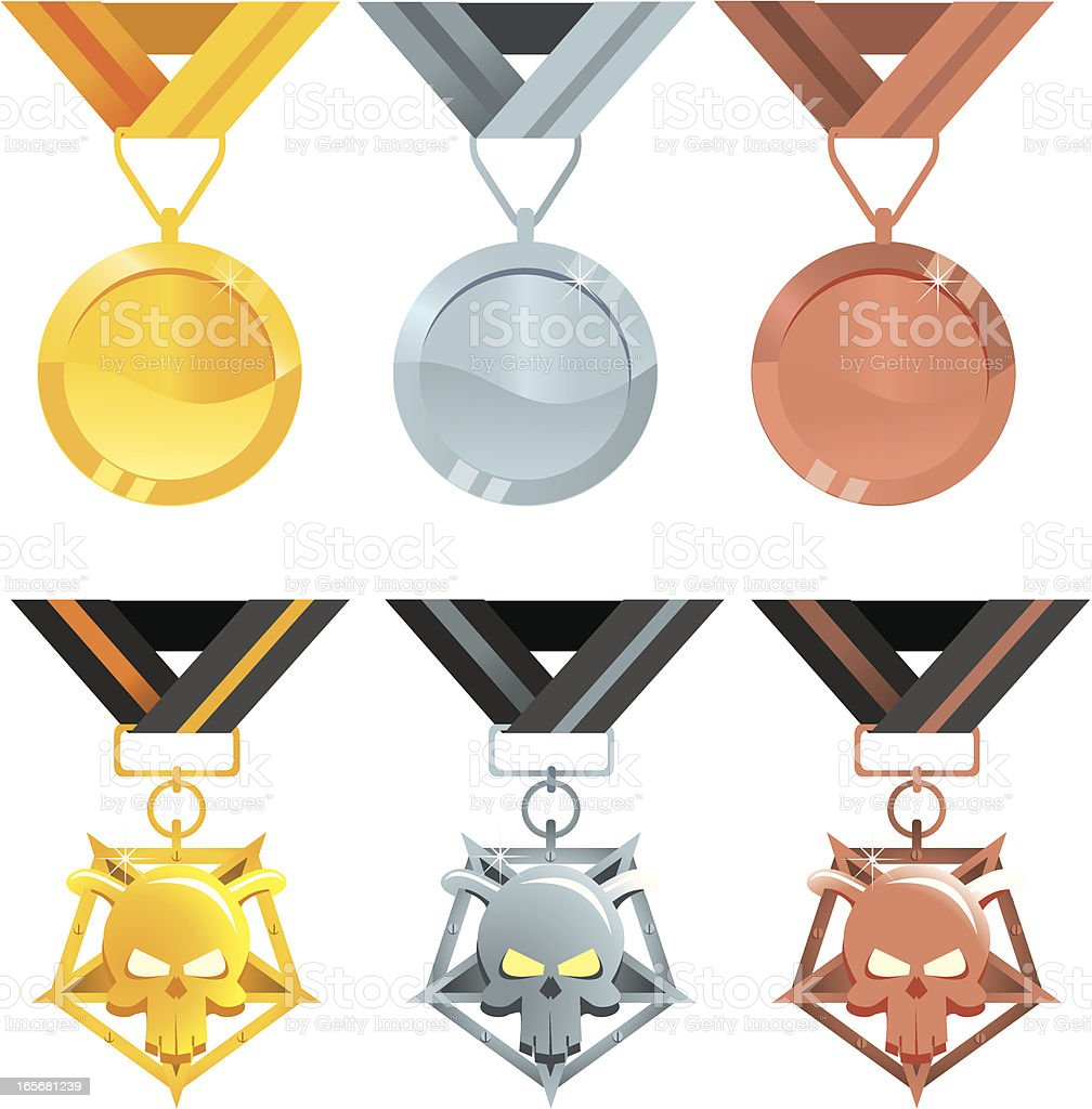 Evil and good awards royalty-free stock vector art