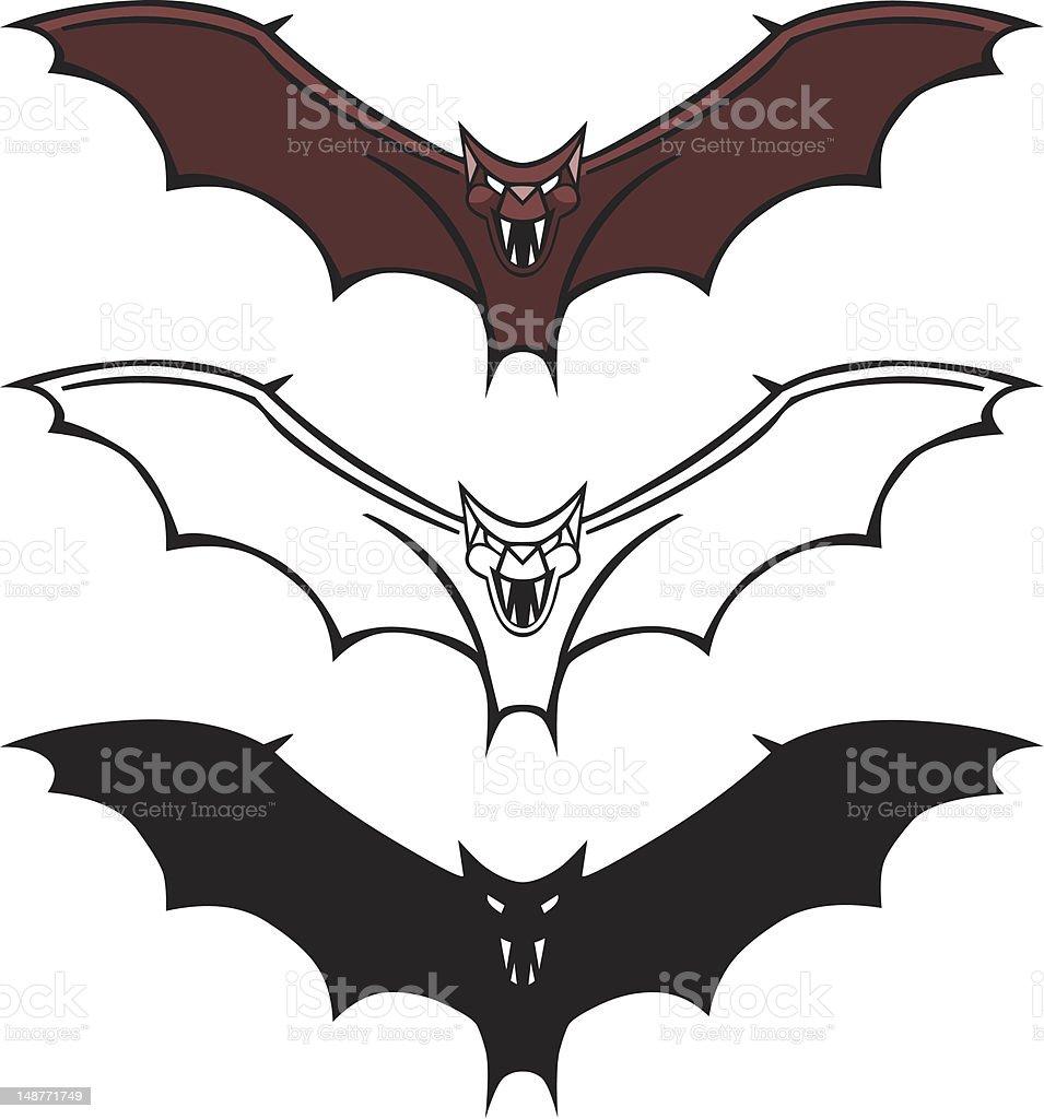 Evil Bat Graphic royalty-free stock vector art