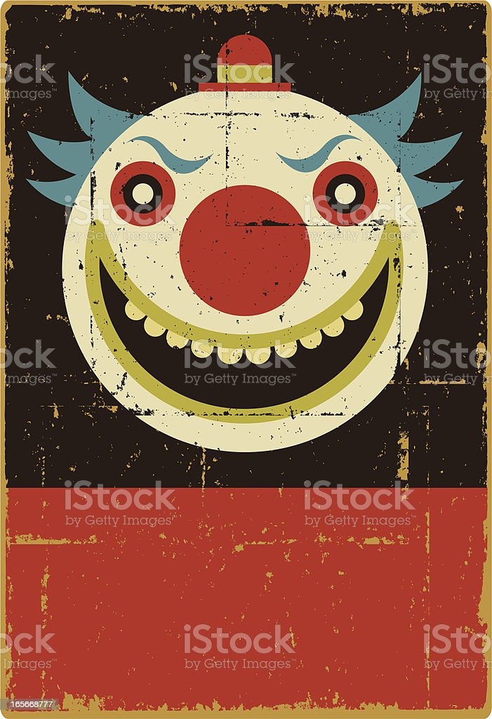 Evil Clown Sign vector art illustration
