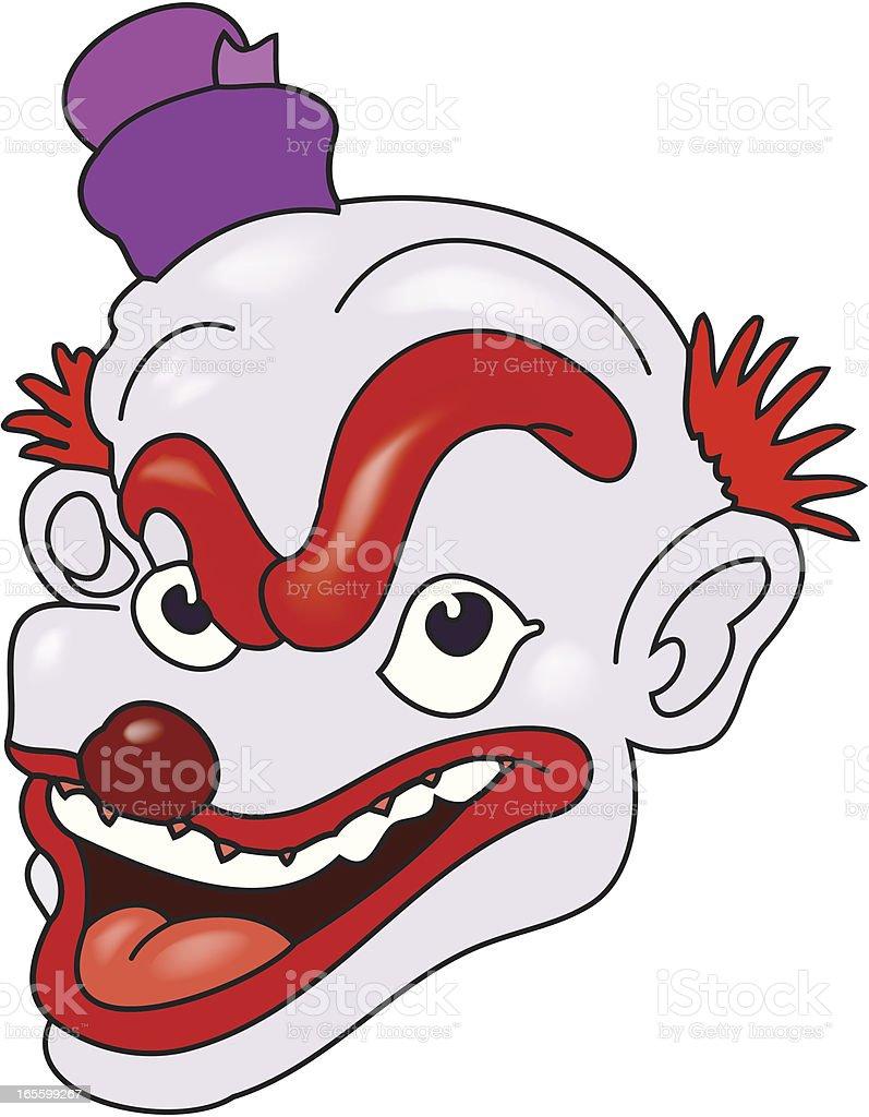 Evil Clown royalty-free stock vector art