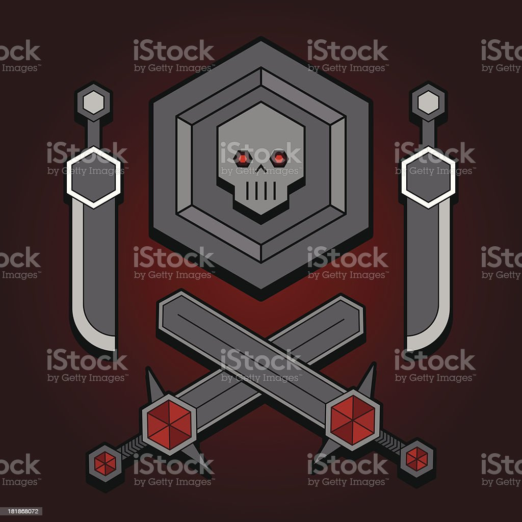 Evil coat of arms royalty-free stock vector art