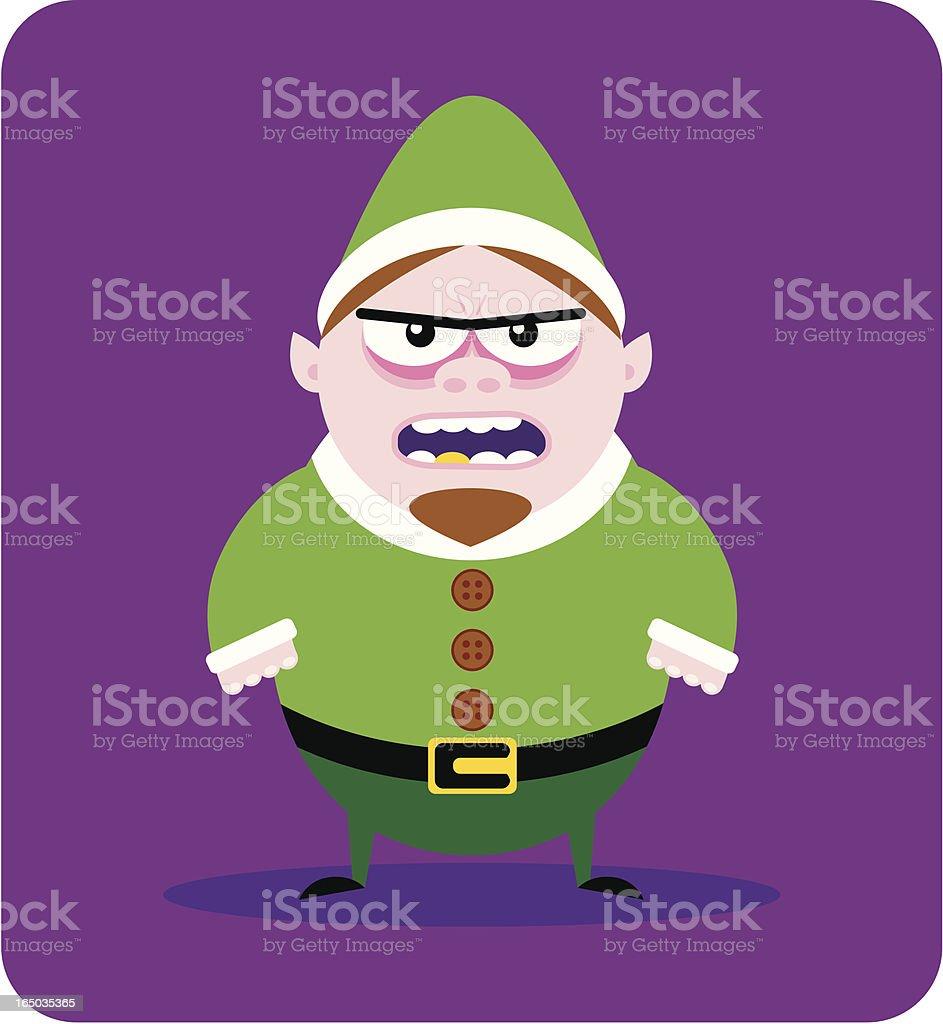 Evil Elf vector art illustration
