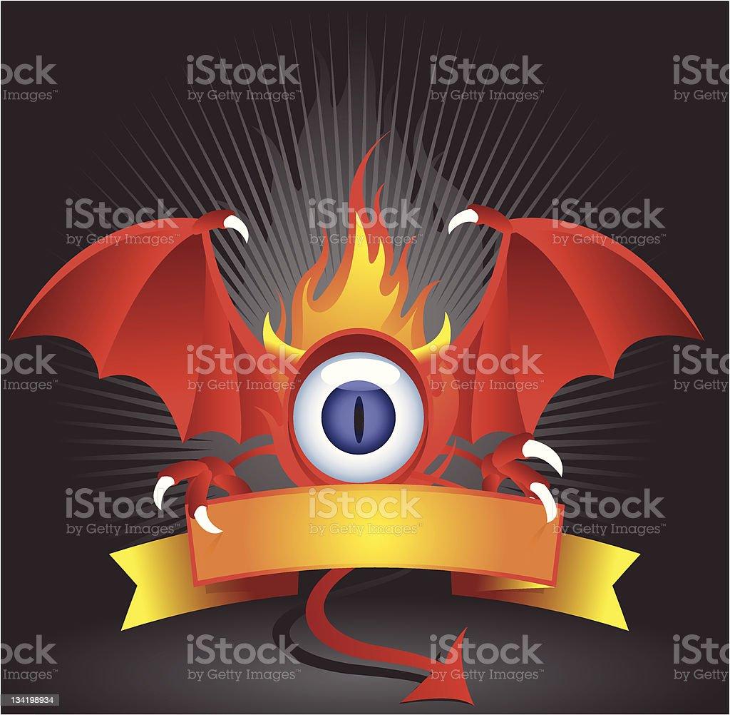 Evil Eye Sign vector art illustration