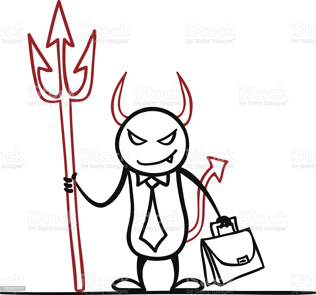 Evil Guy royalty-free stock vector art