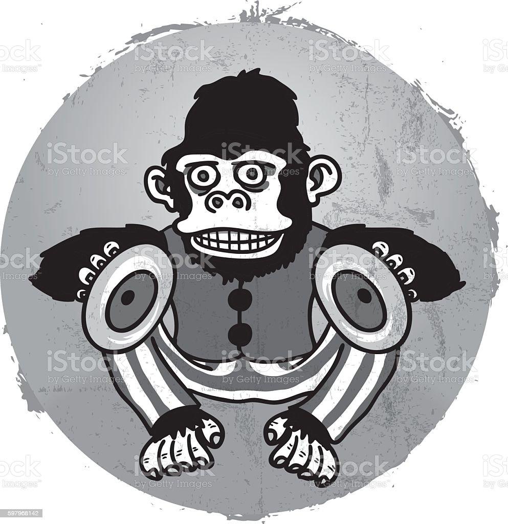 Evil Monkey Illustration vector art illustration