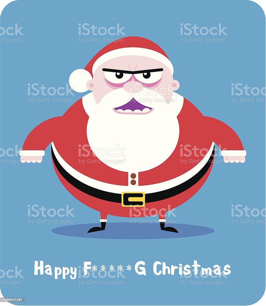 Evil Santa vector art illustration