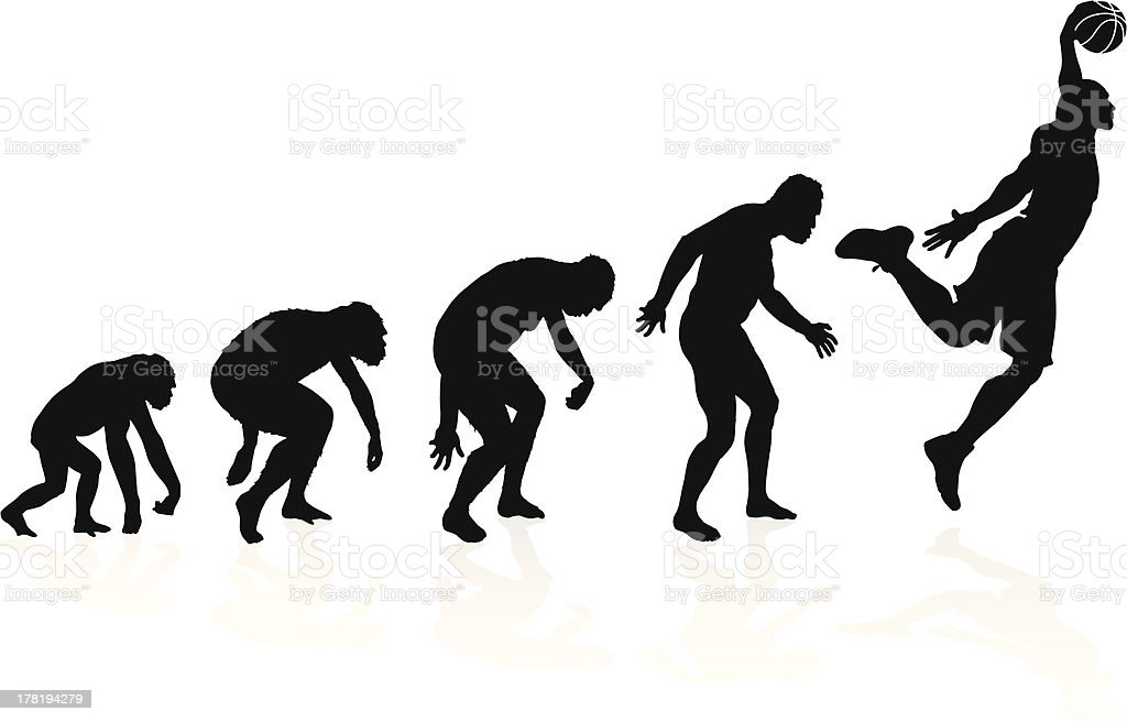 Evolution of a Basketball Player royalty-free stock vector art
