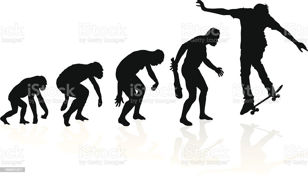 Evolution of a Skateboarder royalty-free stock vector art