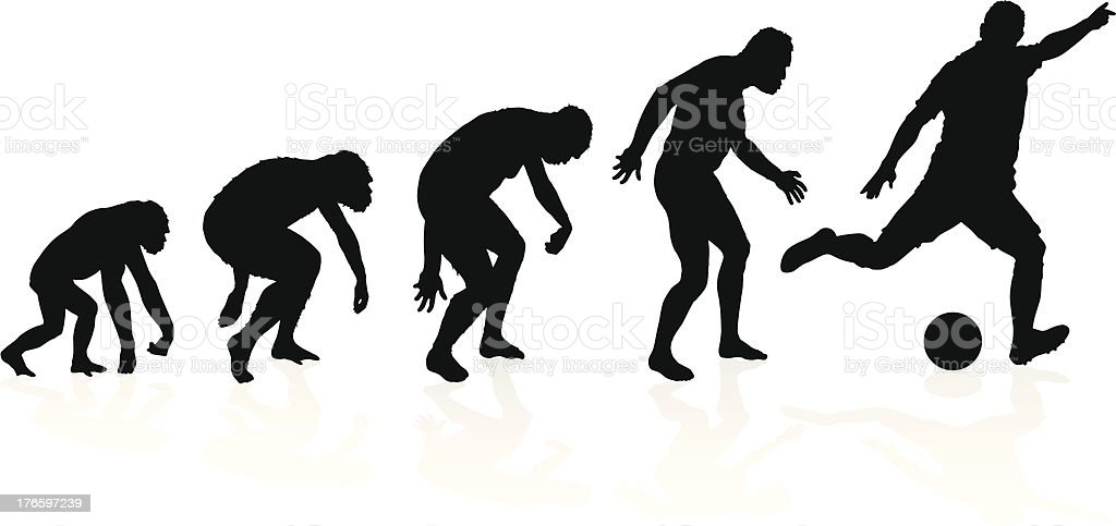 Evolution of a Soccer Player royalty-free stock vector art