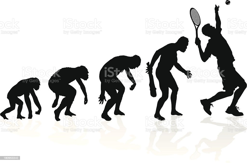 Evolution of a Tennis Player royalty-free stock vector art
