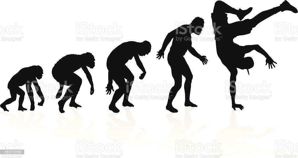 Evolution of the B Boy Breakdancer royalty-free stock vector art