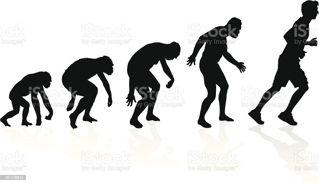 Evolution of the Runner vector art illustration