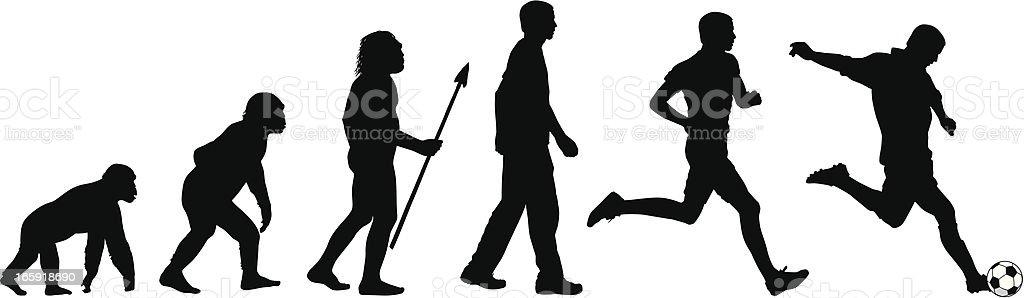 Evolution of the Soccer Player vector art illustration