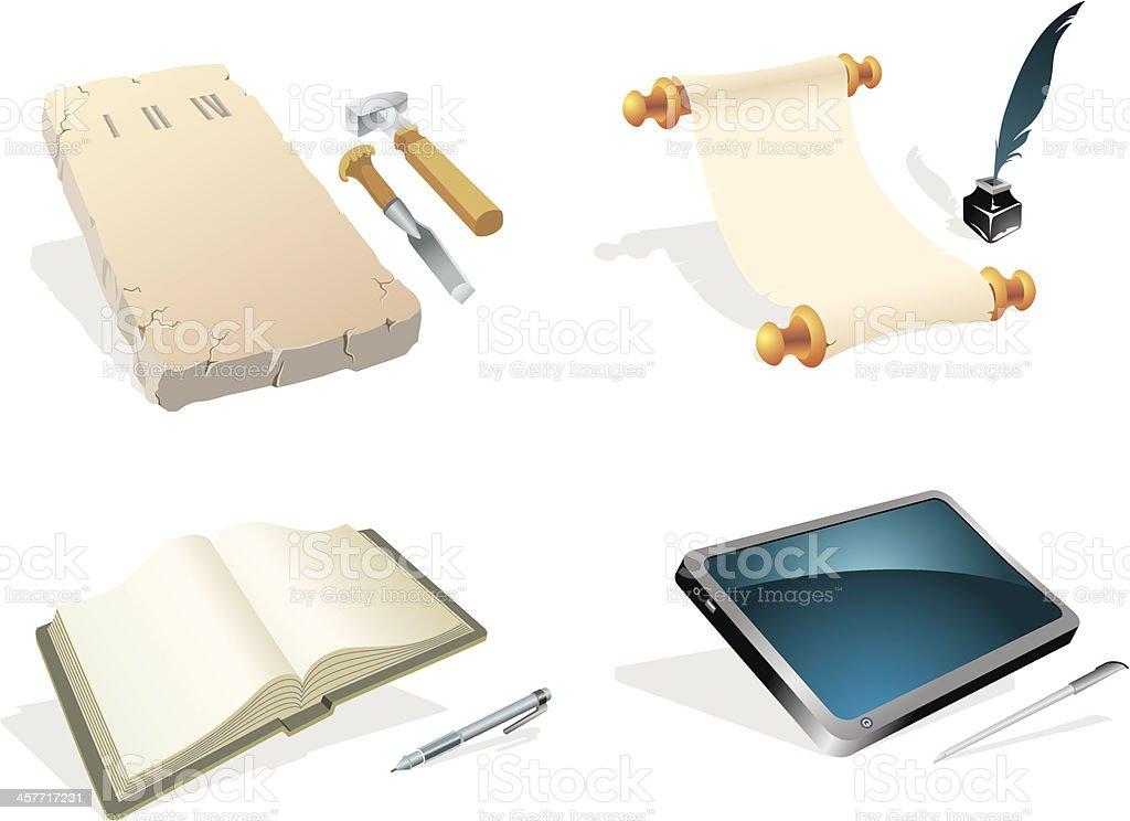 Evolution - Writing Instrument royalty-free stock vector art