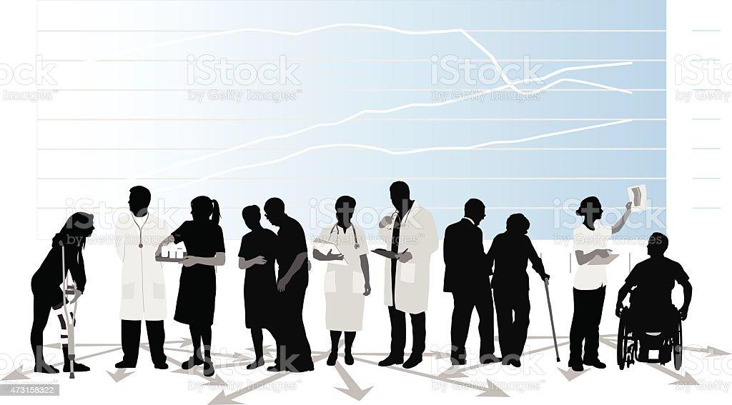 Evolving Health Care vector art illustration