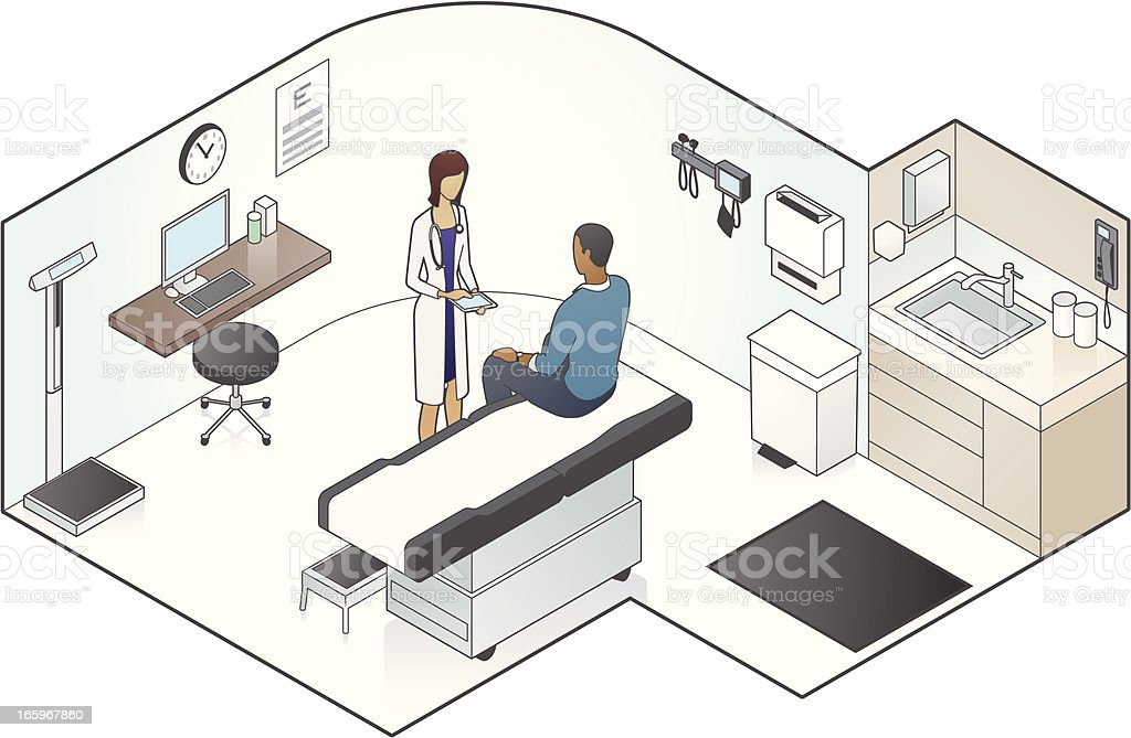 Examination Room Illustration vector art illustration