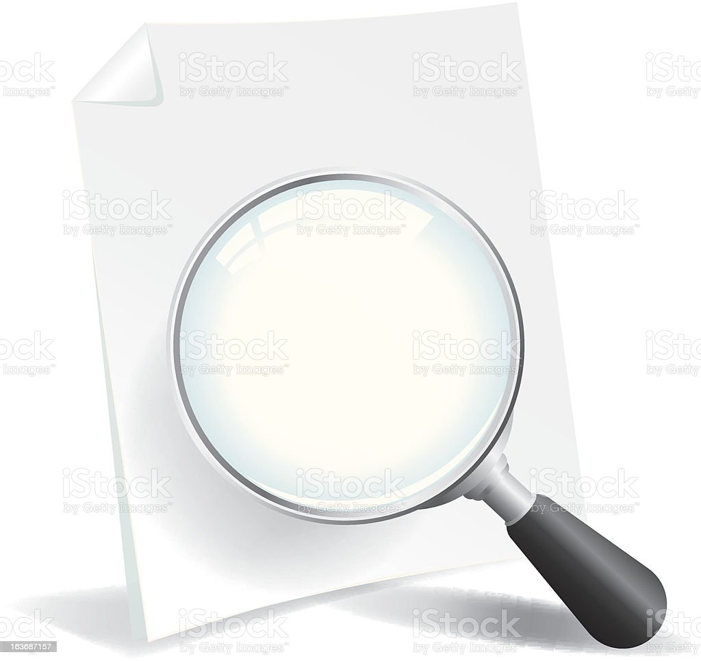 Examining a Document royalty-free stock vector art