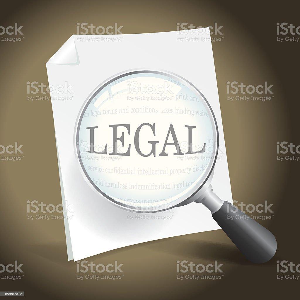 Examining a Legal Document vector art illustration