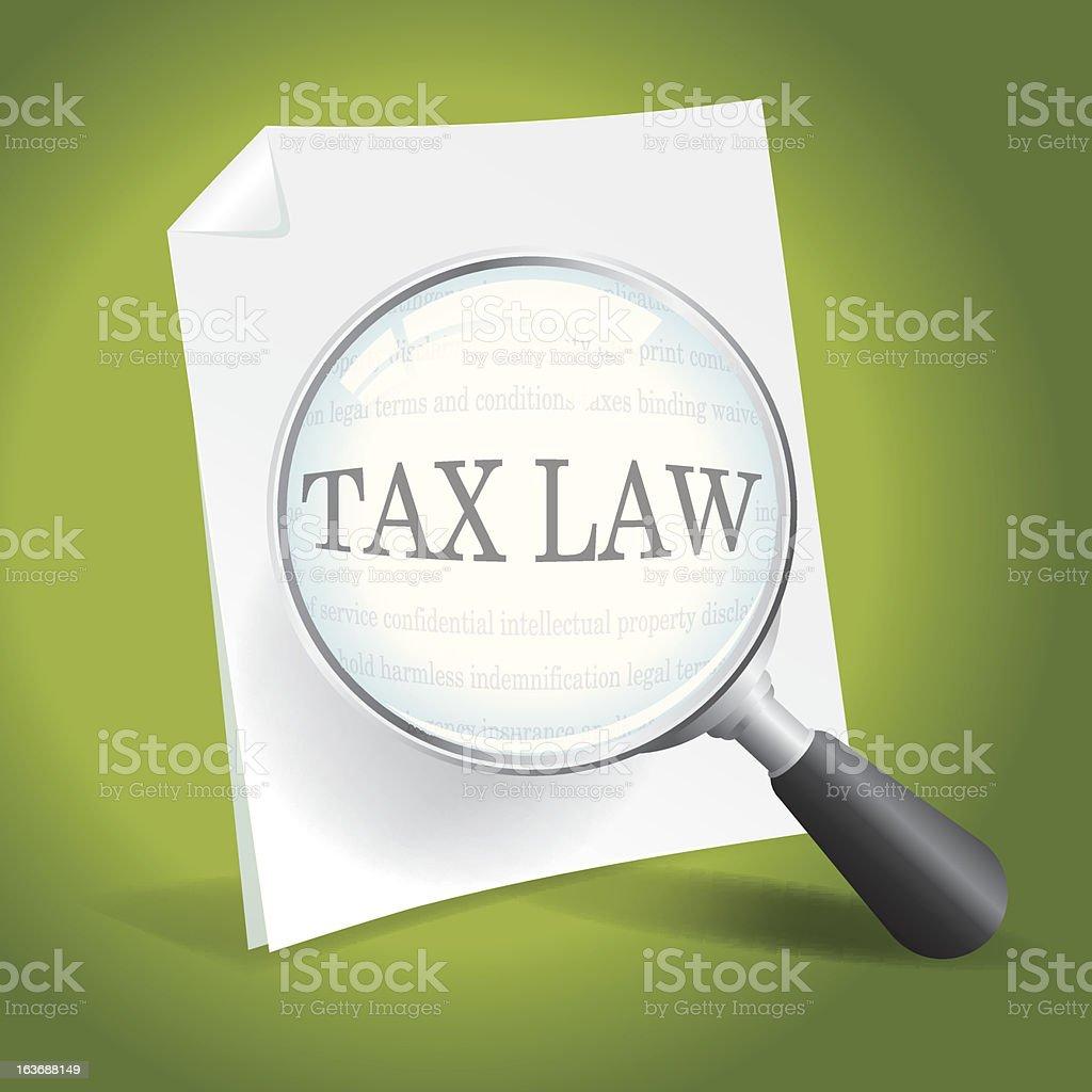 Examining Tax Law royalty-free stock vector art